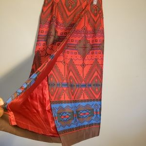 Jones new York silk lined maxi skirt size 8